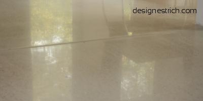 geschliffener Estrich, Designestrich, CemFlow - Designfloor, Sichtestrich