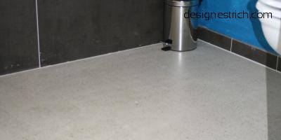geschliffener Estrich CemFlow-Designfloor im Badbereich